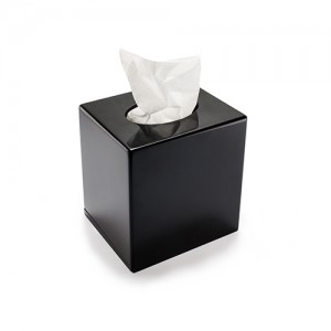 Black Cube tissue box