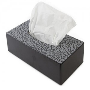 Elephant print tissue box
