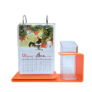 Table Calendar with pen Holder